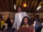Jackie Sunshine Smith and Zulu Chief Mlaba at Pietermaritzburg Mayor Reception.JPG