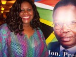 Jackie Sunshine Smith at KZN Premier Sbu Ndebele reception at Elangeni Hotel in Durban South Africa.JPG