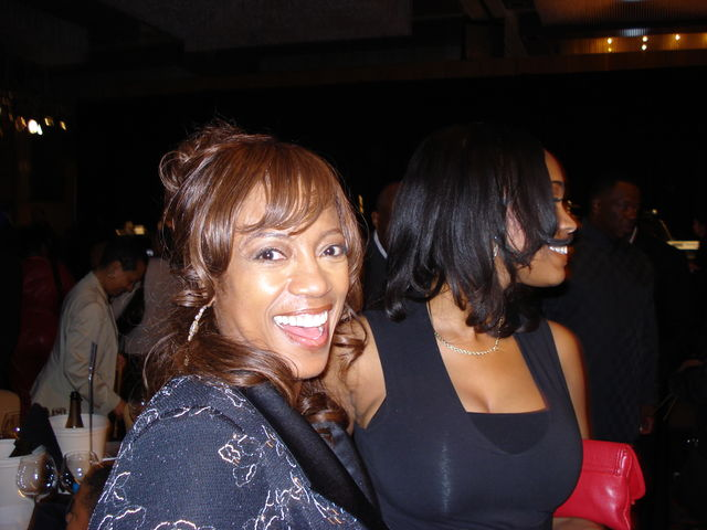 BerNadette Stanis and daughter at NBCA Hall of Fame ATL.JPG