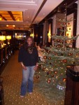 Jackie Sunshine Smith at Maritim Hotel restaurant  Berlin Germany.JPG