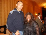 Nikolai Valuev and Jackie Sunshine Smith at Don King postfight party Chicago.JPG