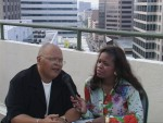 Rev Charles Williams & Jackie Sunshine Smith  discuss his new book at IBE Indianapolis .JPG