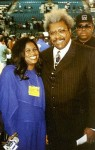 Jackie Sunshine Smith & Don King at  Holyfied-Tyson weigh-in MGM Grand Las Vegas
