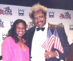 Jackie Sunshine Smith & Don King at Mayorga-Forrest Press Conference Las Vegas