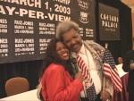 Jackie Sunshine Smith & Don King at Ruiz-Jones Press Conference in Las Vegas