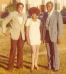 Coach Eddie Robinson, Jackie Sunshine Smith, Coach Fred Hobdy at Grambling State University 1973.jpg