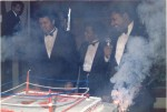 Ali, Eldrin Bell, Don King at DK's birthday bash for Ali in Atlanta after Tubbs-Witherspoon.jpg