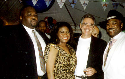 Aziz Munir, Jackie Smith, Tommy Oliver, Joe Frazier 1996 Olympic Boxing Team Reception in  Atlanta.jpg