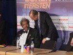 Promoters Don King and Wilfried Sauerland at postfight pressers Berlin.JPG