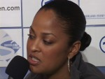 Laila Ali speaks to Asa Sandell at Ali vs Sandell presser Berlin.jpg