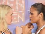 Laila Ali vs Asa Sandell faceoff Berlin.jpG