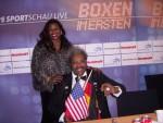 Don King and Jackie Smith Ruiz vs Valuev  Berlin Germany.JPG