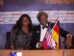 Jackie Sunshine Smith and Don King Berlin Germany Ruiz vs Valuev.JPG